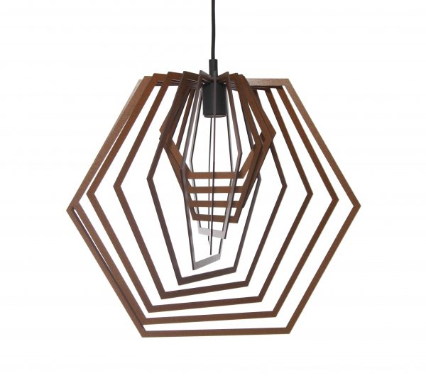 The Indian pendant light in mahogany stain