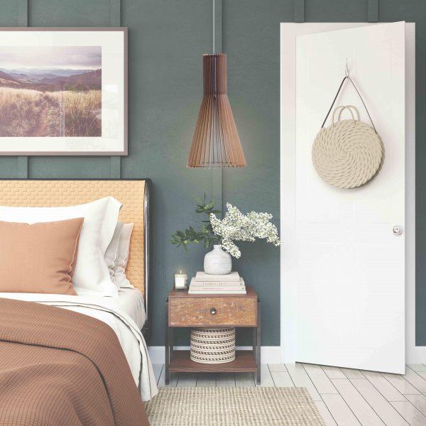 The Chenin pendant light in pretty bedroom decor