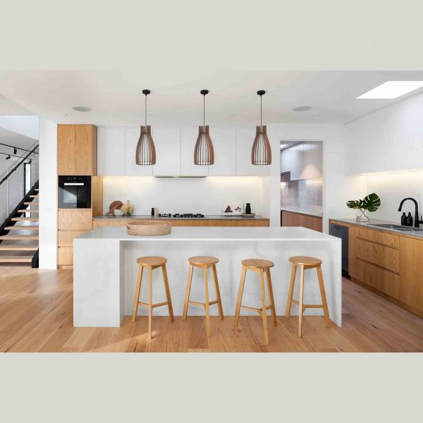 3 x The Hout Bay pendant lights over kitchen counter