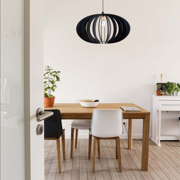 The Constantia Upper in black over kitchen table