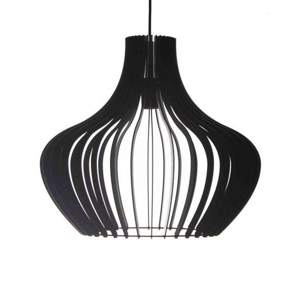 The Malbec pendant light in black