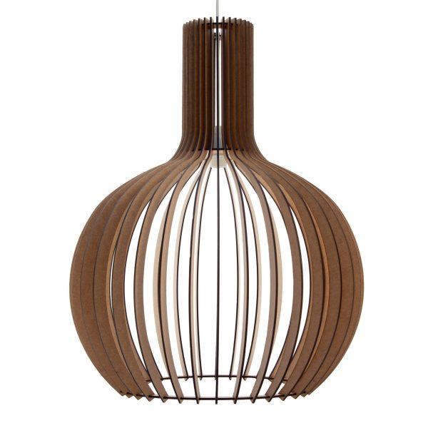 The Cabernet wooden pendant light