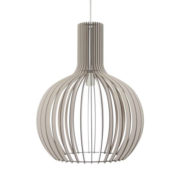 The Cabernet pendant light in antique white stain