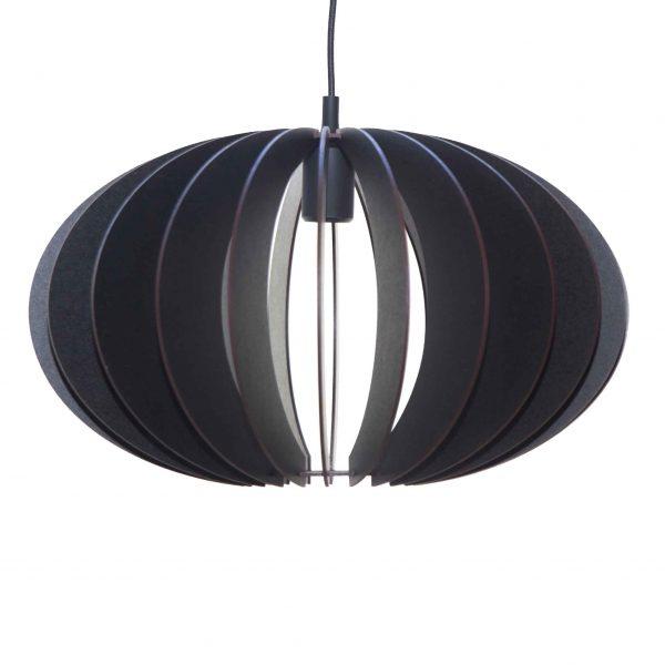 The Constantia Lower wooden pendant light in black
