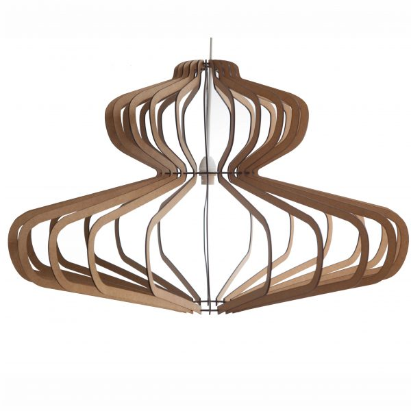 The Bishopscourt wooden laser cut pendant light