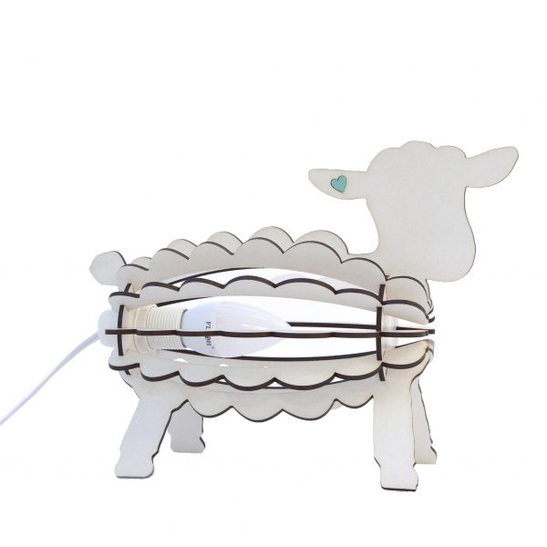 Kids Bedroom Desk Lamp Night Light Lamb Animal Shape