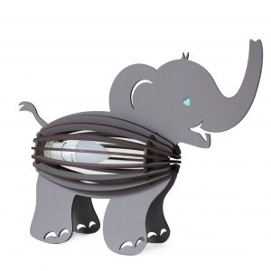 Elephant shape bedside lamp for the children's room