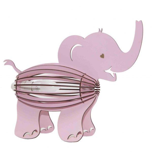 Pink elephant bedside light