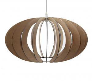 Spherical Lasercut Wooden Pendant Light