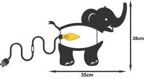 Elephant light kids room