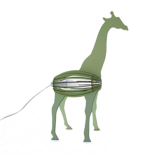 Giraffe desk lamp green