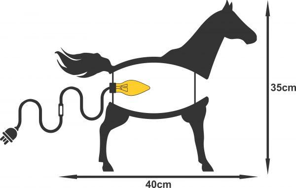 Horse light kids room