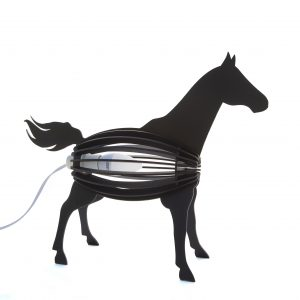 Kids Light Black Horse Desk Lamp