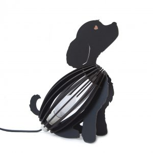 Kids Light Dog Black Desk Lamp