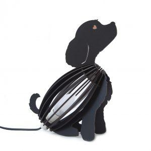 Kids Light Dog Black Desk Lamp