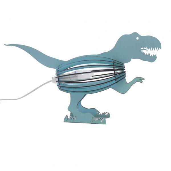 Dinosaur bedroom light in blue