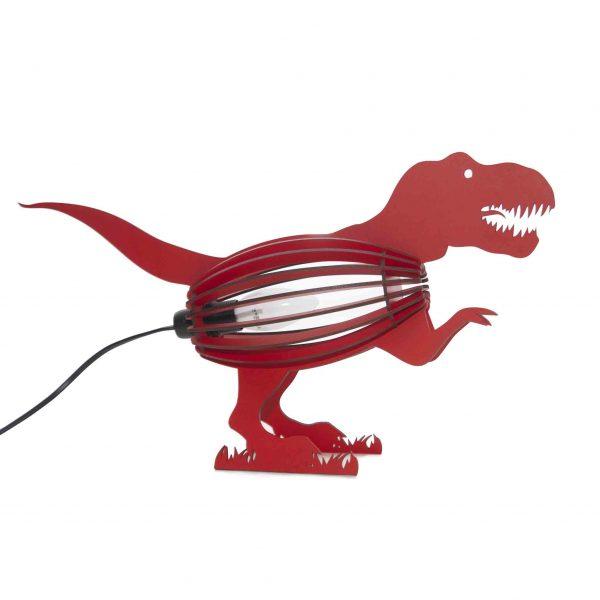 Dinosaur bedroom light in red