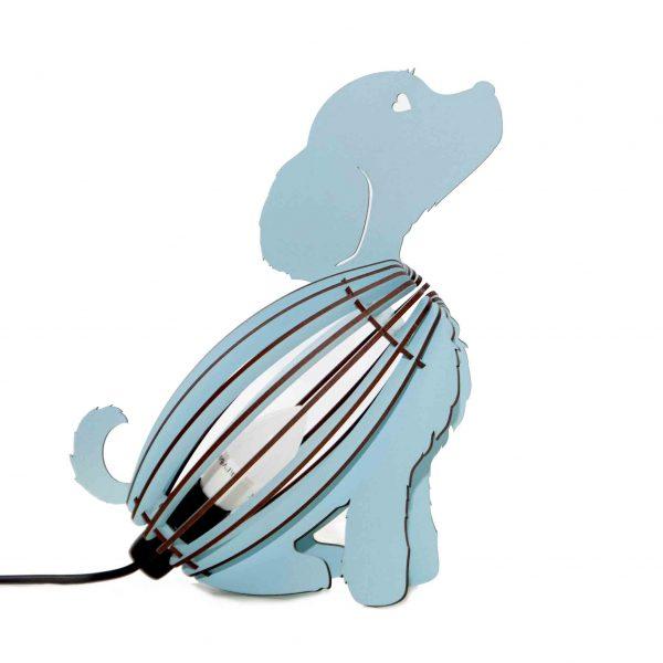Dog bedside light in blue