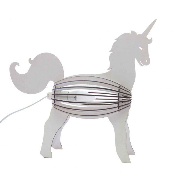 Unicorn bedside light in white