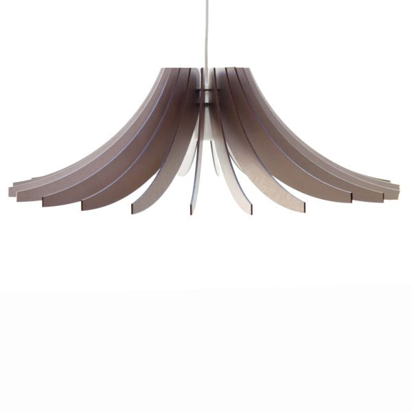 The Dahlia pendant light in chocolate shimmer