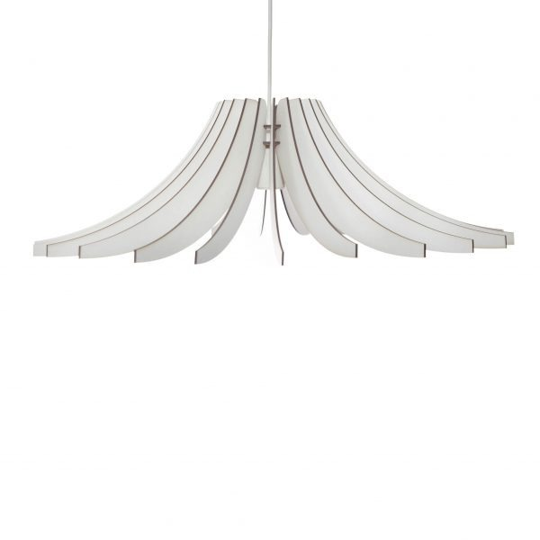 The Dahlia pendant light in white