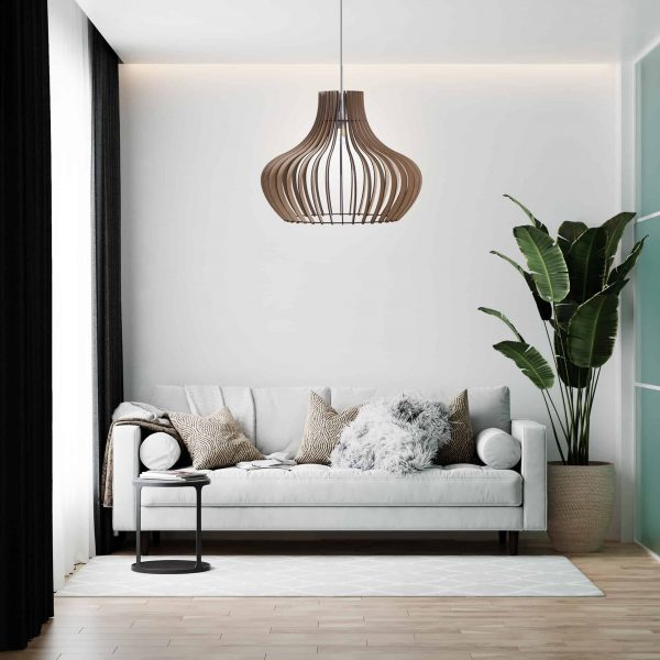 The Malbec wooden pendant light