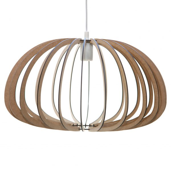 The Aquarius style wooden pendant light