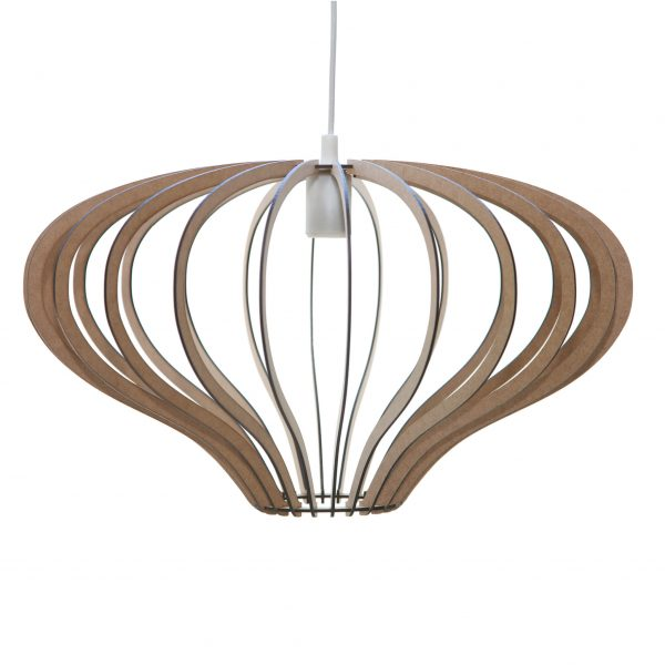 The Capricorn style wooden pendant light