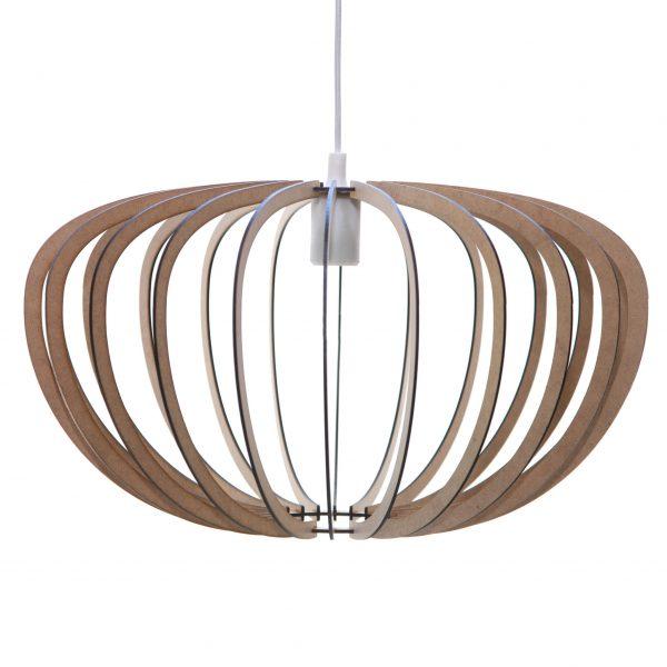 The Gemini wooden pendant light