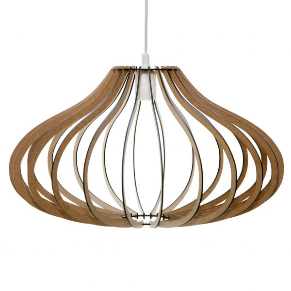 The Taurus wooden pendant light from our Zodiac range