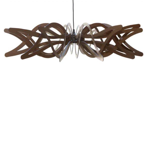 The Gloriosa wooden pendant light unique design