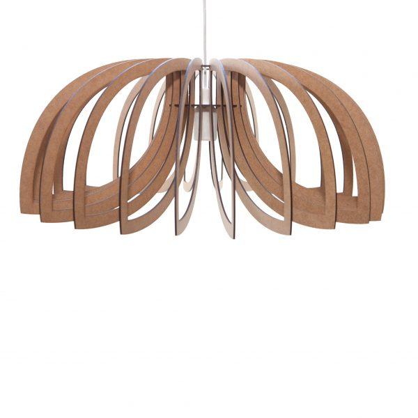Scorpio style wooden pendant light - Water Design