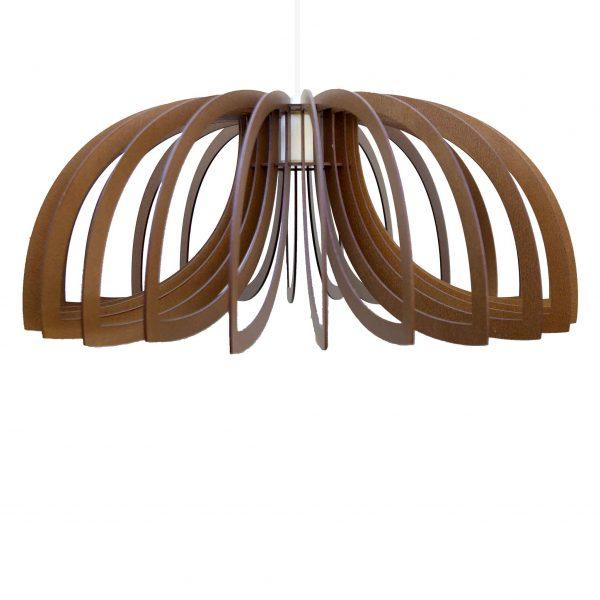 The Scorpio pendant light in mahogany stain