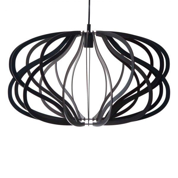 Unique light fitting in black