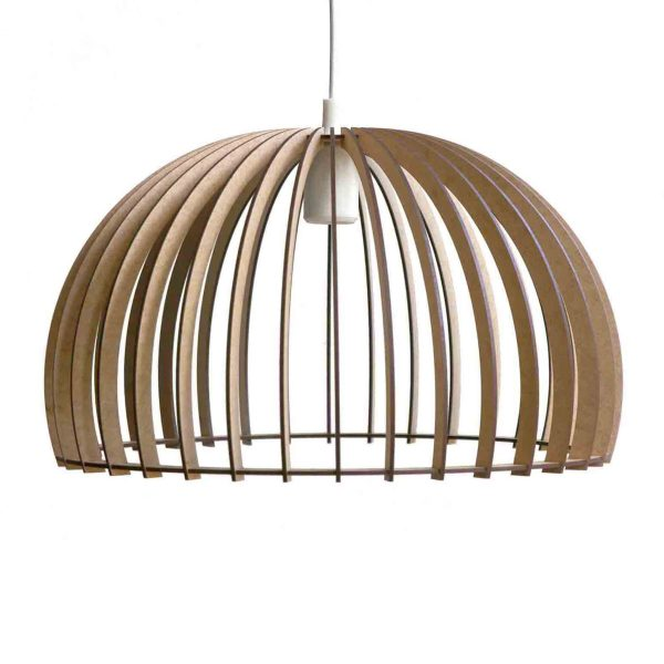 The Shiraz pendant light in natural with a white cordset