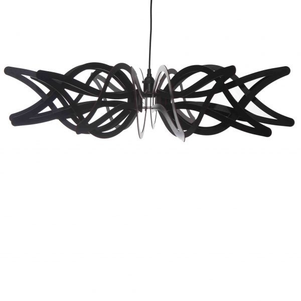 The Gloriosa pendant light in black